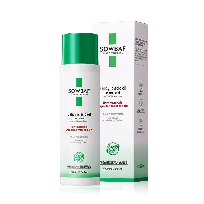 Nước hoa hồng SOWBAF kiềm dầu dưỡng ẩm giảm mụn Salicylic Acid Oil Control And Moisturizing Skin Toner SOBA05