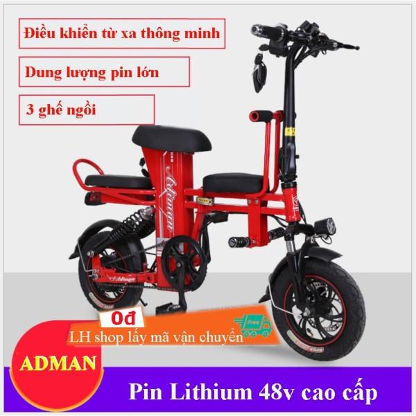 Mua Xe Đạp Điện Gấp Gọn  Xe Điện Mini Adman - A2  Pin 48V - 8A-20A  Quảng Đường Đi Lên Tới 100Km
