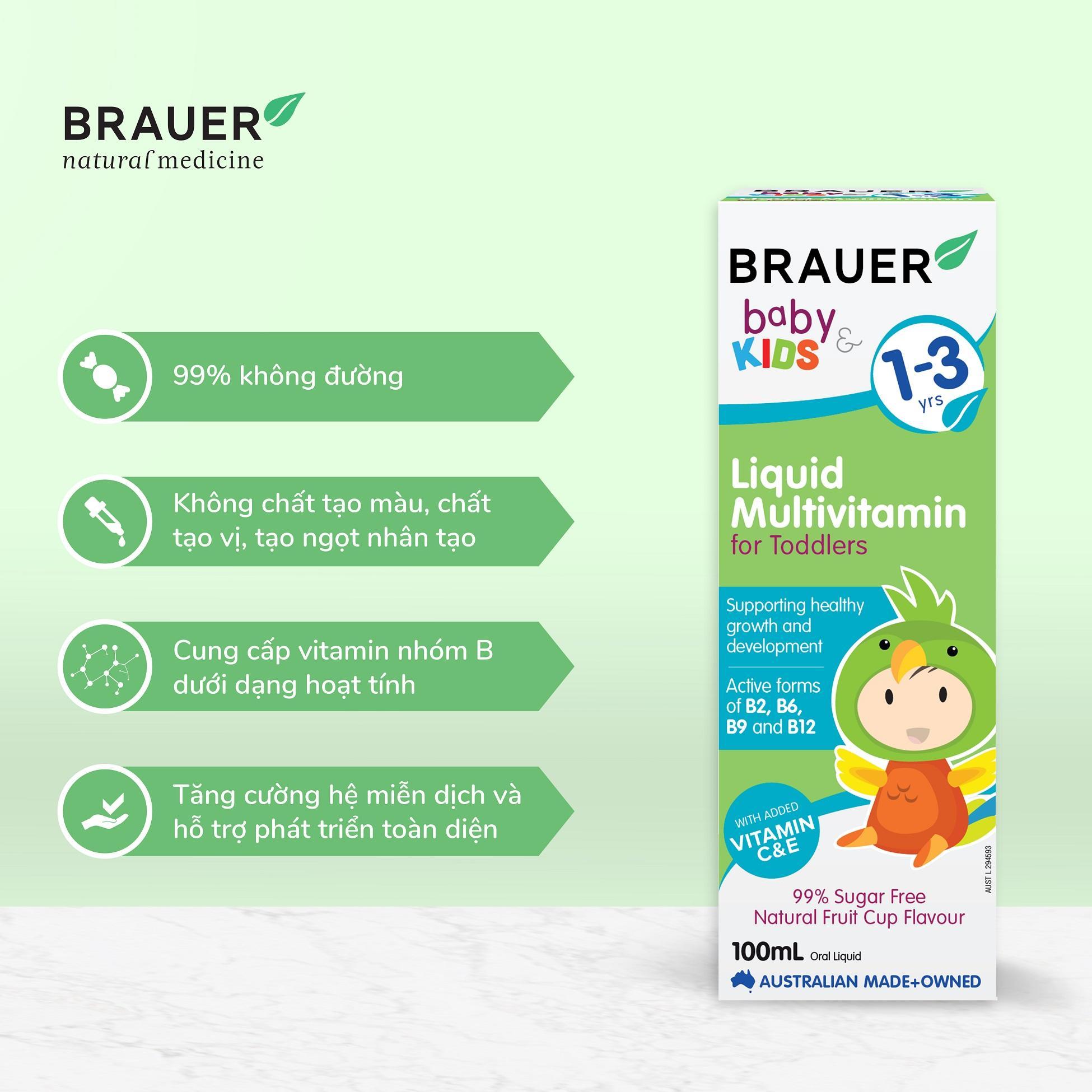 Kết quả hình ảnh cho vitamin tổng hợp brauer 100ml