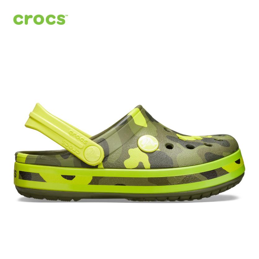CROCS Giày Mọi Trẻ Em Crocband MultiGraphic Clog 205532 giá rẻ