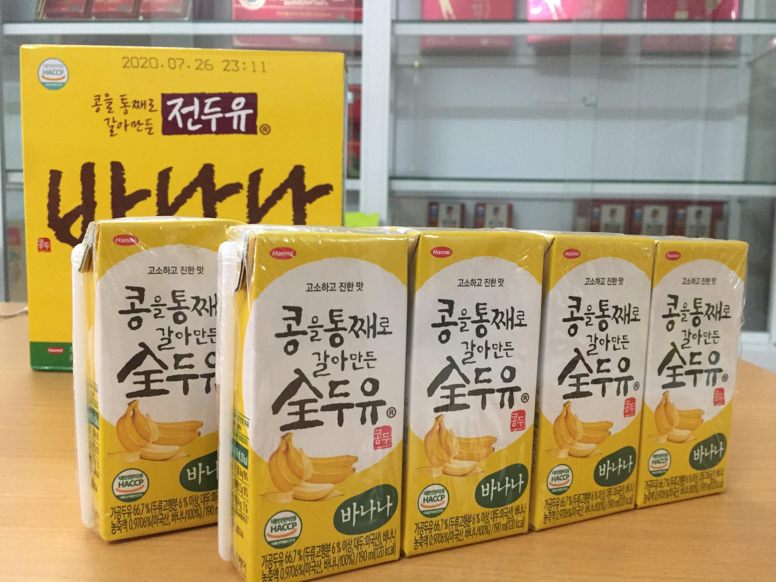 [Hanmi] - Sữa Hạt Hàn Quốc vị chuối 190 ml (8 hộp) - Sữa hạt Hàn Quốc Hanmi