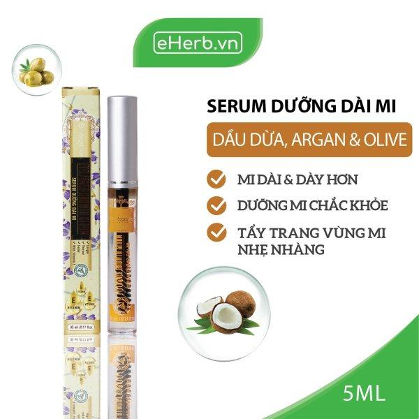 Serum Dưỡng Dài Mi Từ Dầu Nguyên Chất (Dừa, Olive, Argan) MILAGANICS 5ml (Tuýp) giá rẻ