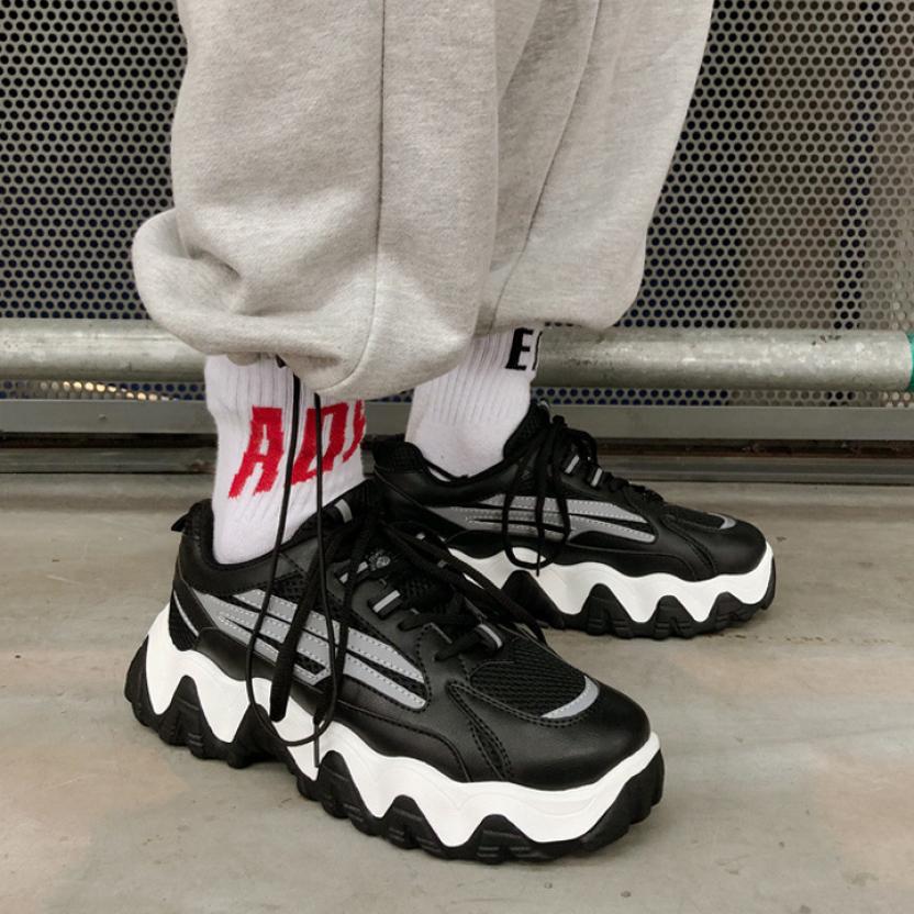 Giày thể thao nam sneaker Tăng 5cm chiều cao Phản Quang TAIKI Kiểu Dáng Mạnh Mẽ Cực Kì Ngầu - GN100 giá rẻ
