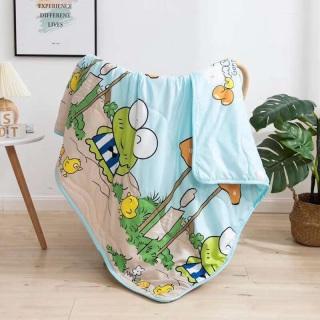 Mền chăn đũi cotton hoạt hình 2 mặt nhiều màu thumbnail