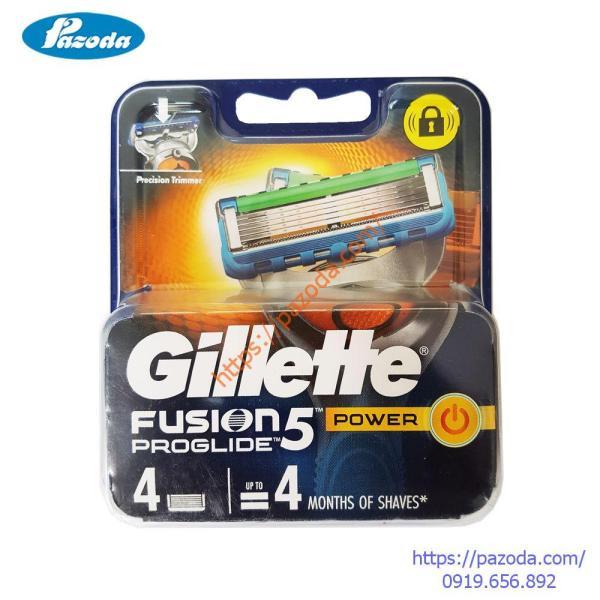 Hộp 4 lưỡi dao cạo râu Gillette Fusion Proglide Power giá rẻ