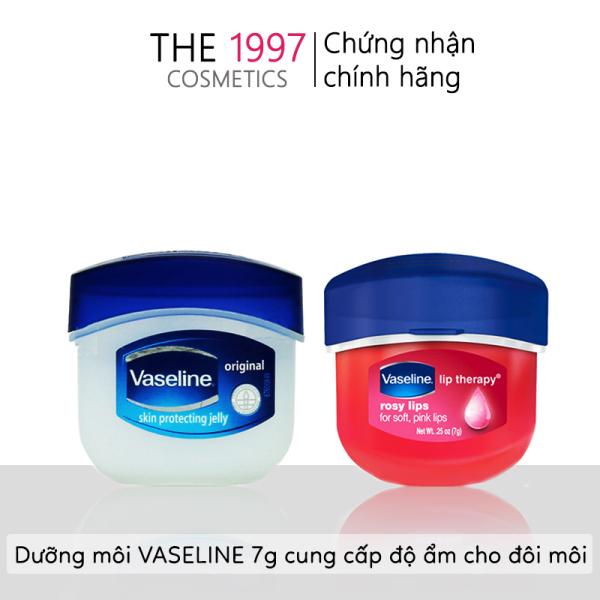 Sáp dưỡng môi Vaseline 7g mini, tiện lợi, son dưỡng ẩm, hạn chế nứt nẻ môi, cũng cấp vitamin cho đôi môi được mềm mọng - The 1997