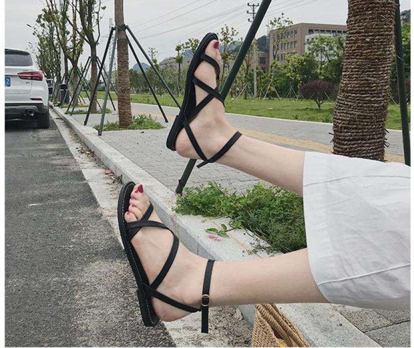 Giày Sandal quai chéo La Mã - SD-0244 giá rẻ
