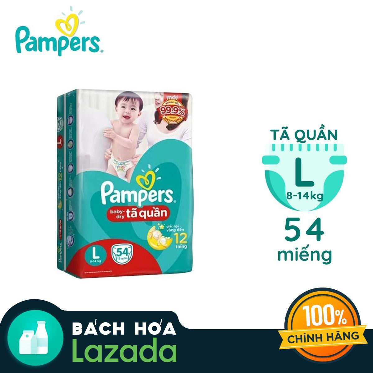 Tã quần Pampers size L 54 miếng (9-14kg)