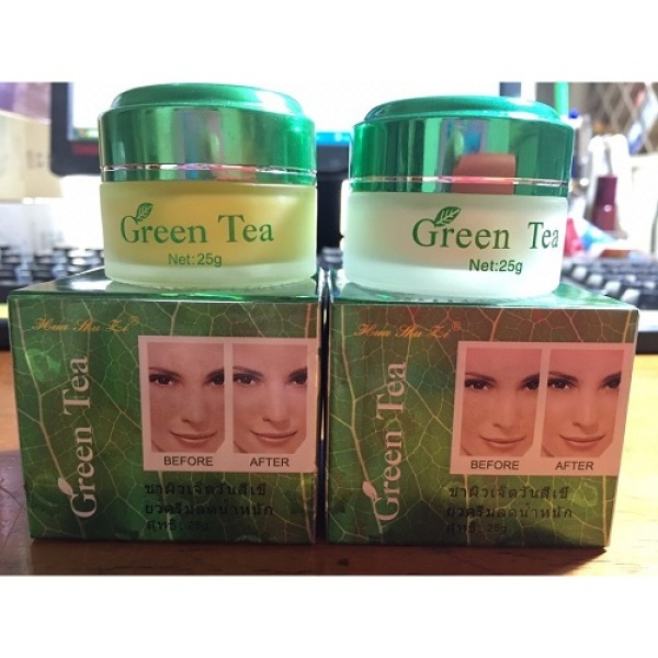 kem trắng da 7 ngày Green tea