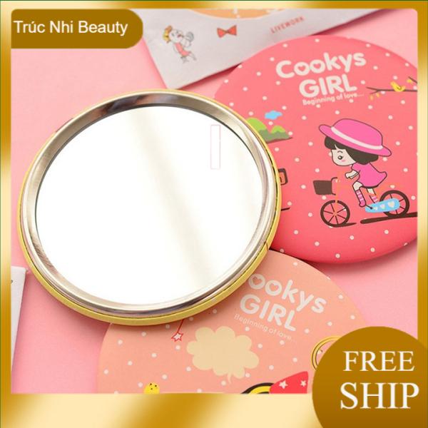 Gương Nhỏ Cầm Tay Hoạt Hình Mỹ Phẩm Gương Gương Cầm Tay Gương Làm Đẹp Mini , Gương Trang Điểm Với Gương Gương, Truc nhi Beauty