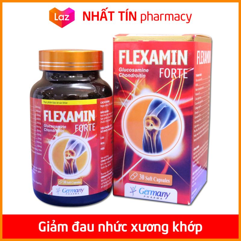 Viên Uống Bổ Xương Khớp Flex Amin Glucosamine giảm đau nhức mỏi xương khớp, giảm thoái hóa khớp - Hộp 30 viên - NHẤT TÍN PHARMACY