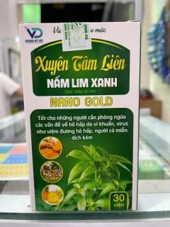 [XUYÊN TÂM LIÊN] Viên uống thảo mộc NANO GOLD - Nấm Lim Xanh - Phòng ngừa các bệnh về hô hấp do vi khuẩn, nâng cao hệ miễn dịch thumbnail