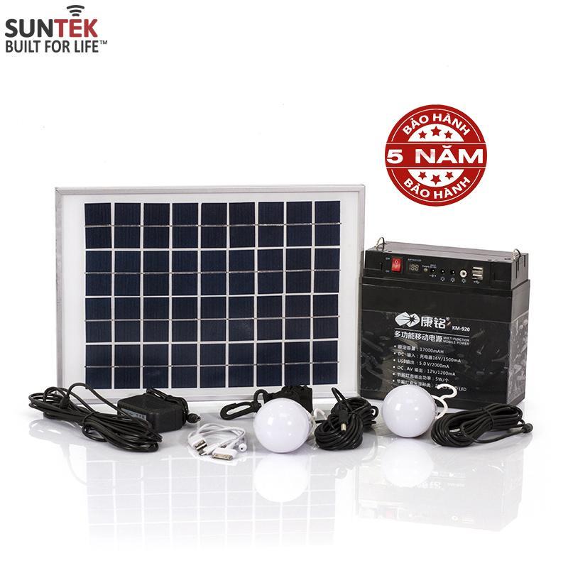 Bộ lưu điện 12V/17A SUNTEK KM-920 17.000mAh sạc bằng năng lượng mặt trời