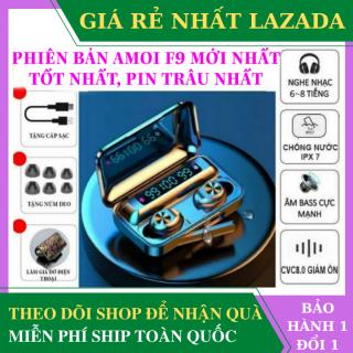 [ Hàng Xịn ] Tai nghe bluetooth AMOI f9-10 cao cấp , có đế sạc dự phòng - Tai nghe bluetooth không dây nhét tai Amoi f9-10 - Tai nghe bluetooth cảm ứng cho mọi dòng máy - Tai nghe bluetooth amoi f9 thumbnail
