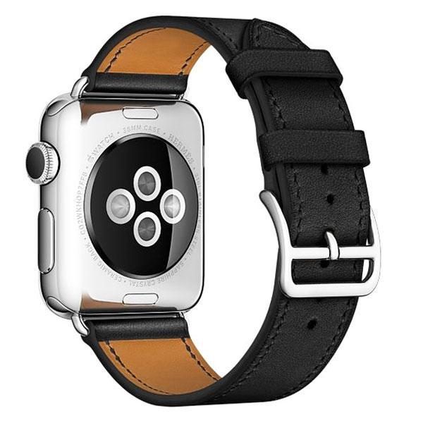 Nơi bán Dây đeo Apple Watch, Dây da H.E.R.M.E.S Black 42mm