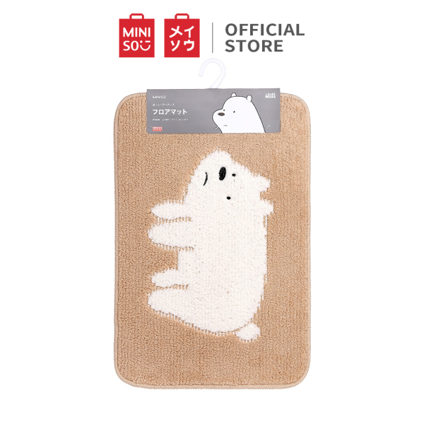 Thảm trải sàn We Bare Bears - Cartoon (nâu) Miniso