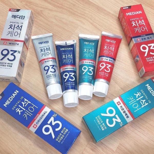 Kem đánh răng Median 93% Hàn Quốc, tác dụng trắng răng, giảm ố và ngăn ngừa mùi hôi cho răng miệng