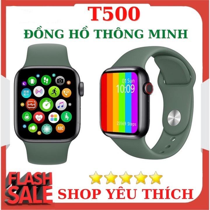 Đồng Hồ Thông Minh T500 Smart Watch Seri 5,6 - Thay được hình nền tùy ý từ điện thoại -Thiết kế thời thượng,thông minh - Nghe gọi trực tiếp - Giao diện tổ ong - hỗ trợ tiếng Việt và nhiều tính năng khác