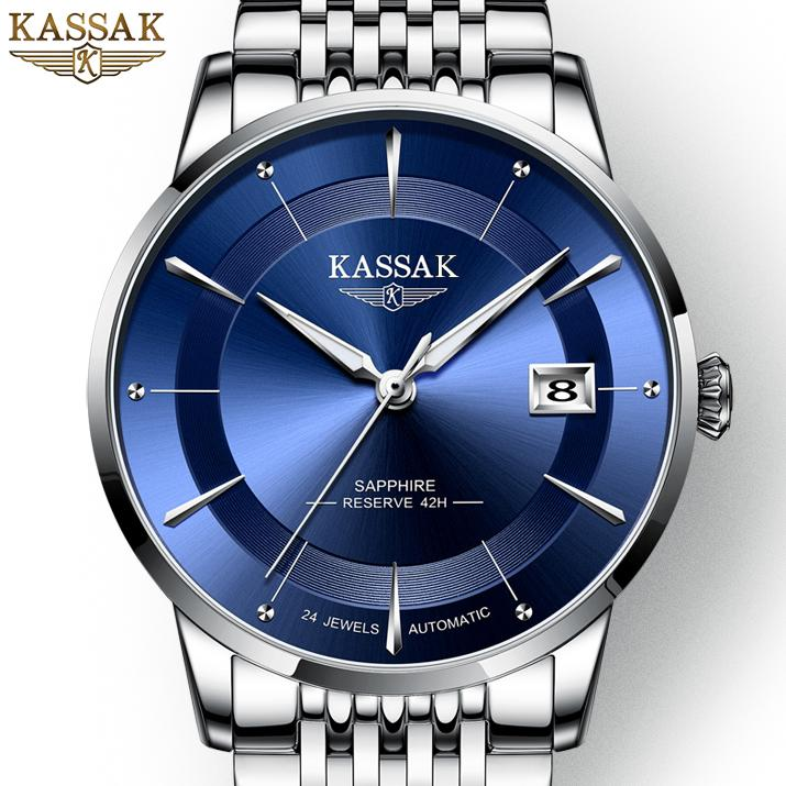 (Sốc 162k bán trong 12h) Đồng hồ Nam KASSAK RUSSIAN Siêu Sang + Tặng Kèm Pin ĐH Dự Phòng