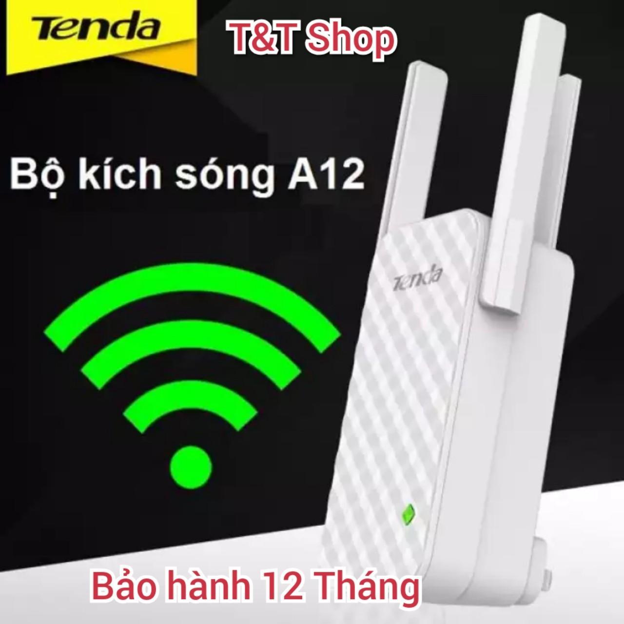 Giá Bộ kích sóng, nối sóng Wifi Tenda A12 3Râu phiên bản mới nhất 2020 ( Bản Nâng cấp của Tenda A9) xuyên tường