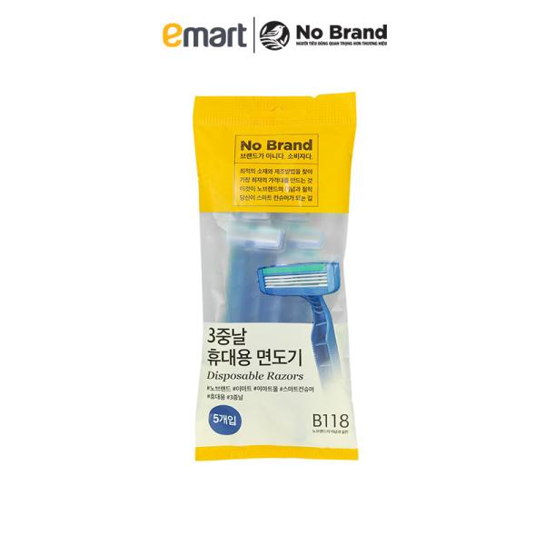 Lô 5 Dao Cạo Râu Tiện Lợi No Brand Hàn Quốc - Emart VN giá rẻ