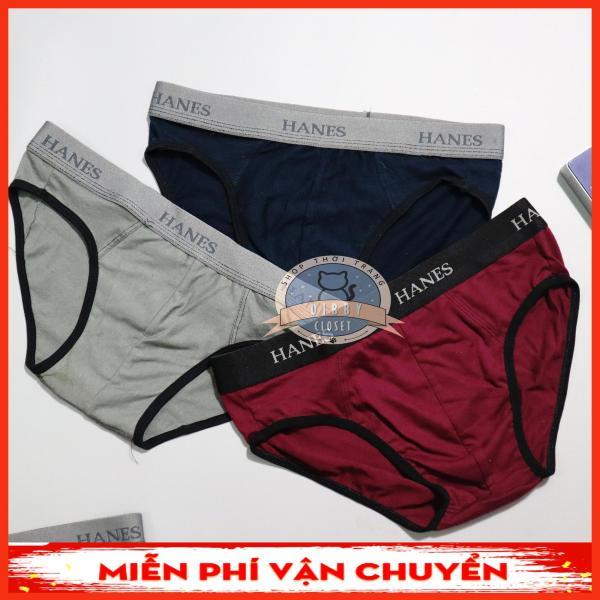 Combo 3 quần lót nam cotton 4 chiều co giãn, lưng thun mềm mại, phù hợp với mọi lứa tuổi