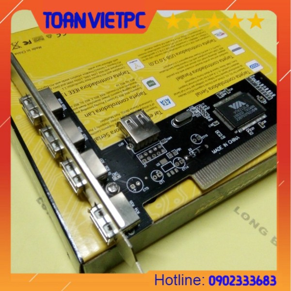 Giá Card pci to 4port USB | card pci ra 4 cổng usb