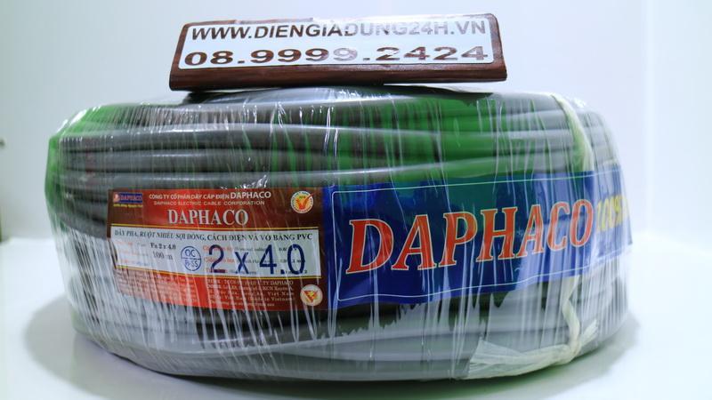 CÁP XÁM DAPHACO 2 x 4.0