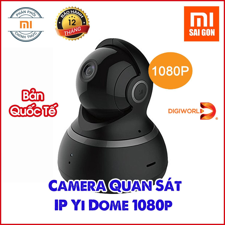 [Đen] Camera IP thông minh YI Dome 1080p- H20 - BẢN QUỐC TẾ- Digiworld phân phối bảo hành 12 tháng