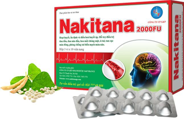 Nakitana Hỗ trợ phòng ngừa và điều trị đột quỵ nhập khẩu