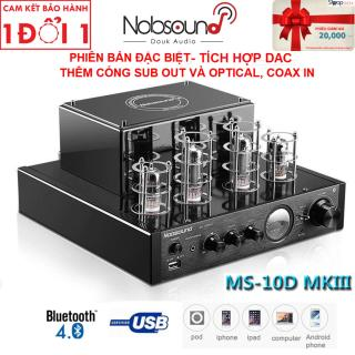 Amply đèn Nobsound chất âm mê hoặc, tích hợp DAC, Bluetooth - Amply đèn Nobsound MS10D - MKIII tích hợp giải mã DAC, kết nối Bluetooth và cổng USB - Thêm cổng Sub out và Optical In - Có tem chống hàng giả thumbnail