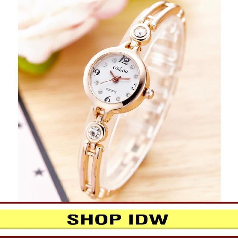 [Có video quay thật] Đồng hồ nữ kim loại thời trang Golou IDW 8001 (Nhiều màu lựa chọn)