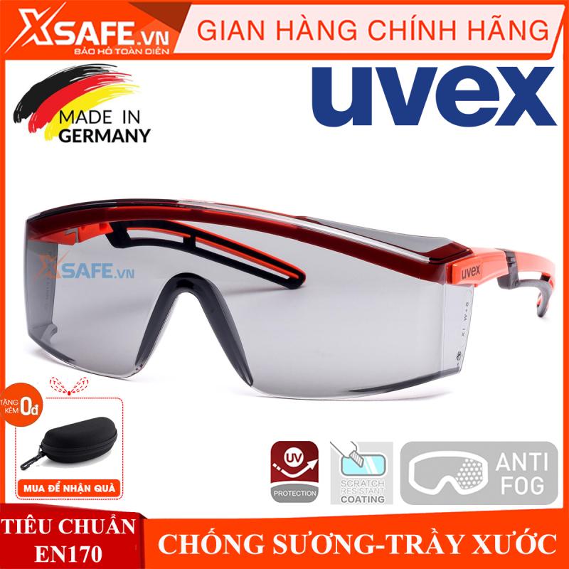 Kính bảo hộ Uvex 9164246 kính Super OTG đeo ngoài kính cận, chống trượt, chống chói, hơi sương, trầy xước vượt trội, ngăn chặn tia UV, dùng cho lao động, thể thao, đi xe máy, phòng dịch, chính hãng [XSAFE] [XTOOLS]