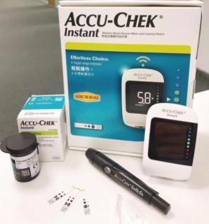 TRỌN BỘ Máy đo đường huyết ACCU-CHECK INSTANT, có bút và kim chích máu và 25 que thử tiểu đường, BH TRỌN ĐỜI 1 đổi 1 thumbnail