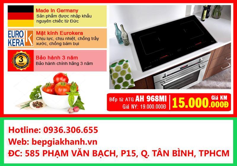 Bếp từ đôi ATG AH968MI nhập khẩu Đức, bếp từ, bếp điện từ, bếp từ đôi, bếp điện từ đôi, bếp từ giá rẻ, bếp điện từ giá rẻ