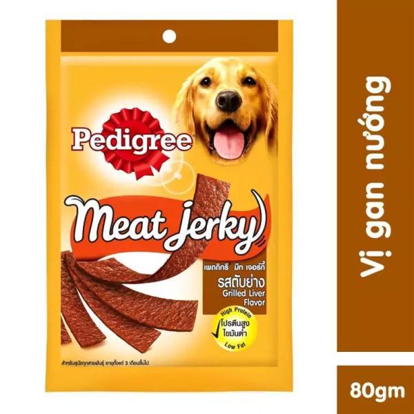 Bánh thưởng cho chó Pedigree Meat Jerky 80gr vị gan nướng dạng thanh