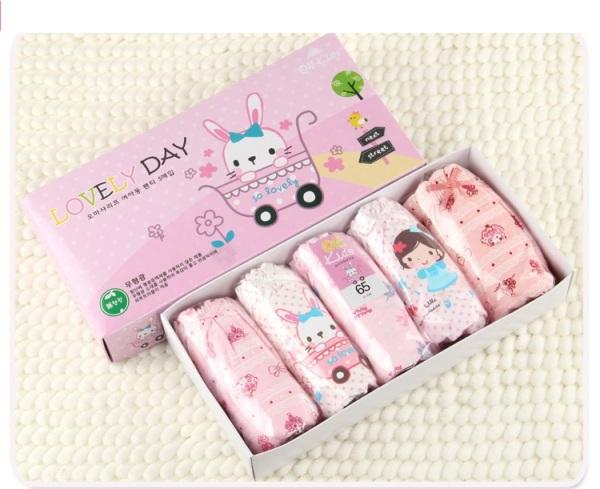 Giá bán [HCM]Combo 5 quần lót trẻ em Hàn Quốc vải cotton thoáng mát LovelyDay dành cho bé gái