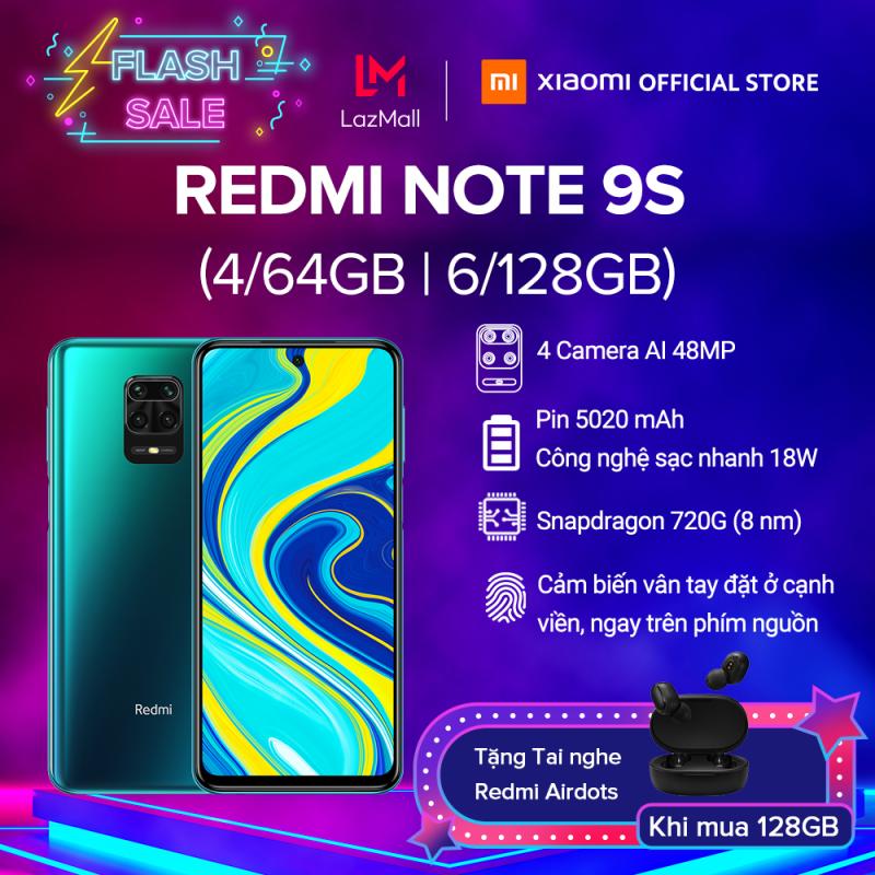 [XIAOMI OFFICIAL] Điện thoại Xiaomi Redmi Note 9S 4GB/64GB | 6GB/128GB - Snapdragon 8 nhân 720G, Màn hình 6.67 inches, Pin siêu khủng 5020mAh sạc nhanh 18W, 4 Camera 48MP/8MP/5MP/2MP góc siêu rộng - BH CHÍNH HÃNG 18 tháng