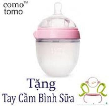 Bình sữa comotomo siêu mềm 150ml tặng kèm tay cầm