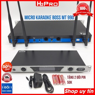 Micro karaoke không dây Boss MT 990, Micro karaoke không dây cao cấp tặng 2 cặp pin giá 50K thumbnail
