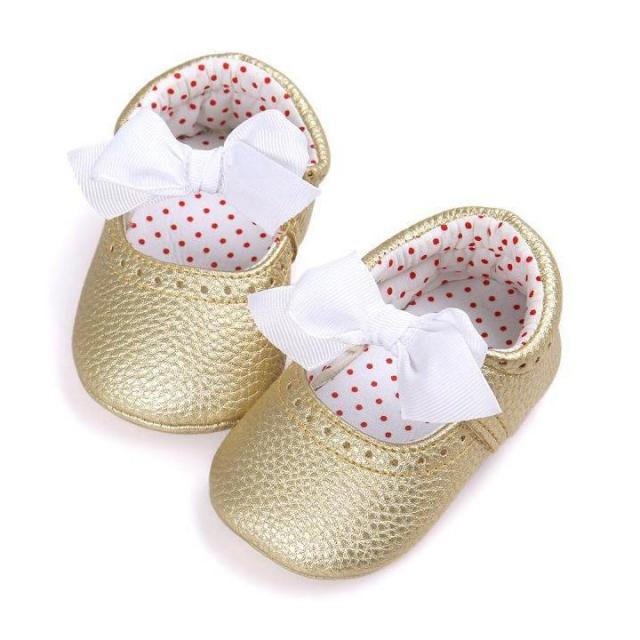Giày tập đi công chúa phối nơ đáng yêu cho bé gái 0-18 tháng tuổi BBShine – TD22 giá rẻ