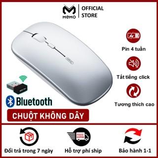 Chuột bluetooth không dây MEMO C1P phiên bản chuột wireless không dây silent sạc pin DPI 1600 LED quang học, chuột macbook laptop pc tivi , chuột máy tính cùng dòng với chuột logitech, fuhlen cho Macbook thumbnail
