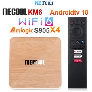 TV BOX MECOOL KM6 Deluxe 4GB 32GB, ROM Android TV 10.0 chính chủ, Amlogic S905X4, WIFI 6 2.5G + 5G, LAN 1000M thumbnail