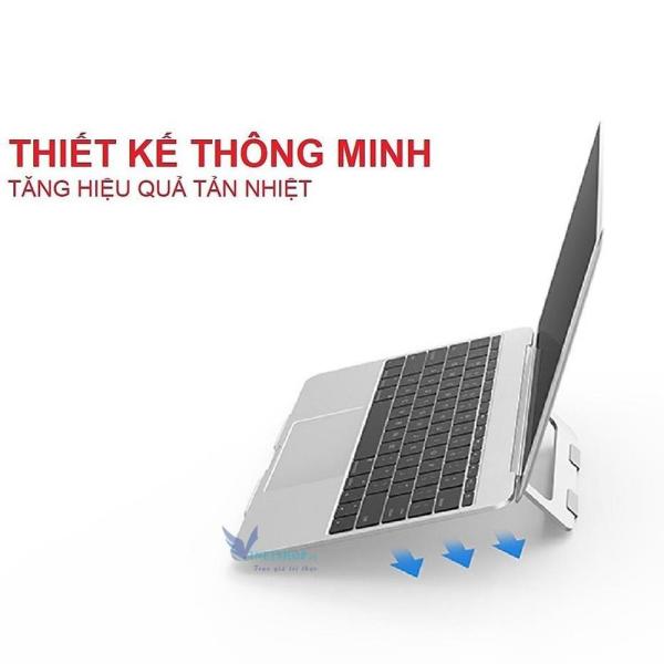 Bảng giá Giá Đỡ Laptop có thể gập lại chất liệu hợp kim nhôm cao cấp, điều chỉnh góc độ Tương Thích cho MacBook Pro, MacBook Air, Apple Macbook Phong Vũ