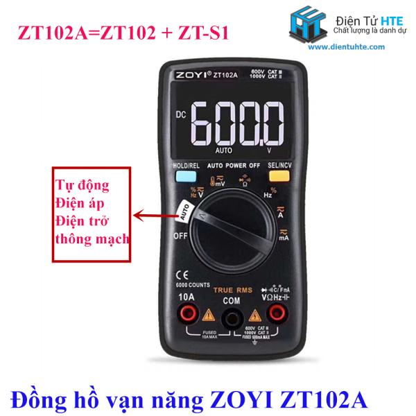 Đồng hồ vạn năng số tự động ZOYI ZT102A