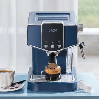 1 Year Warranty - Freeship - ACA Espresso Coffee Maker Machine Espresso 15Bar Pump Pressure Semi-automatic Household Appliances Commercial Steam Milk Froth220V AC-EJ12C thumbnail