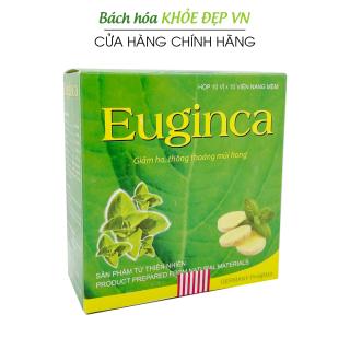 Viên uống giảm ho Euginca 100 viên giảm đau rát họng, khan tiếng, hóa đờm - Thành phần thảo dược thumbnail