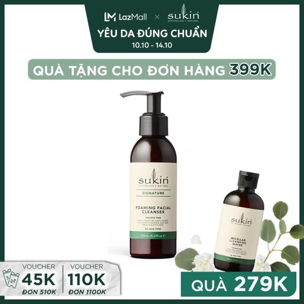 Sữa Rửa Mặt Tạo Bọt Sukin Signature Foaming Facial Cleanser 125ml giá rẻ