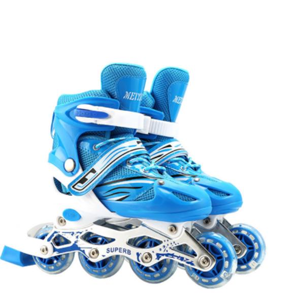 Phân phối Giày trượt patin bánh cao su phát sáng,tăng giảm size +tặng bộ bảo hộ (Chân Tay + Mũ Bảo Hiểm)