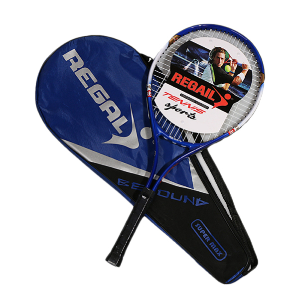 Bảng giá REGAIL 1Pcs Iron alloy Tennis Racket Racquets Equipped with Bag Tennis Grip Size 4 1/4 Racket From Tennis Bag(Blue)
